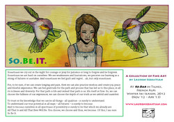 SO BE IT: Exhibition Flyer (English)