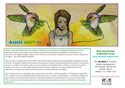 SO BE IT: Exhibition Flyer (French)