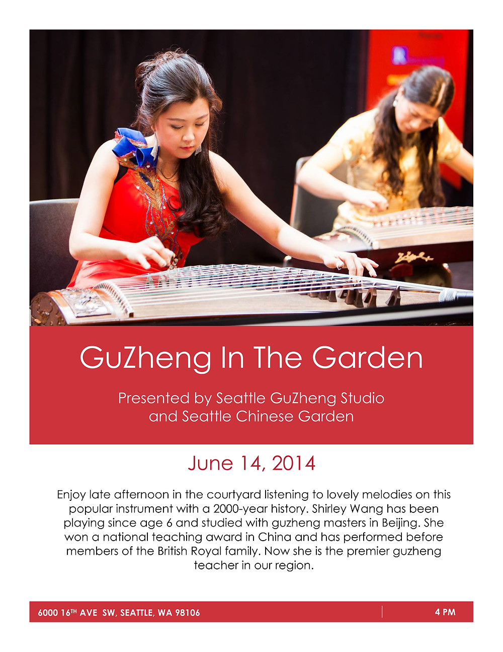 Seattle GuZheng In The Garden