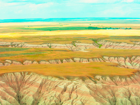 Badlands from a Tiny Machine