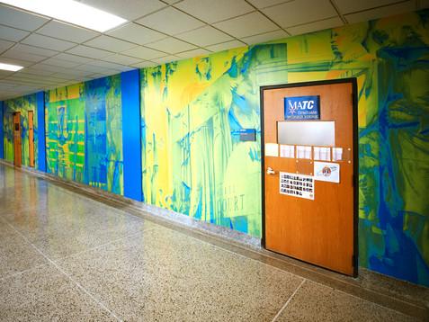 Fourth-floor mural: Separation
