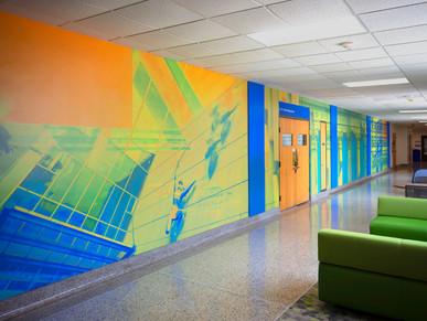 Sixth-floor mural: Stone is Never Permanent