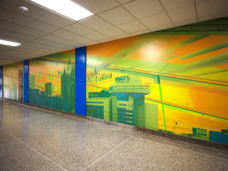 Fifth-floor mural: Reinvention