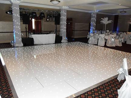Light up white twinkle LED dance floor for hire