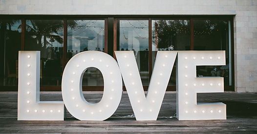 Light up love letters for hire 1.5 meter white letters