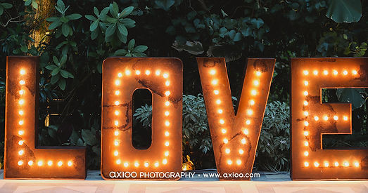 Light up love letters for hire 1.5 meter rustic letters