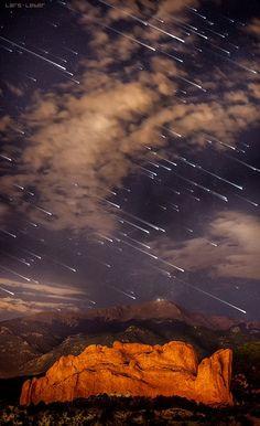 Meteor hullás, Pikes Peak, Colorado