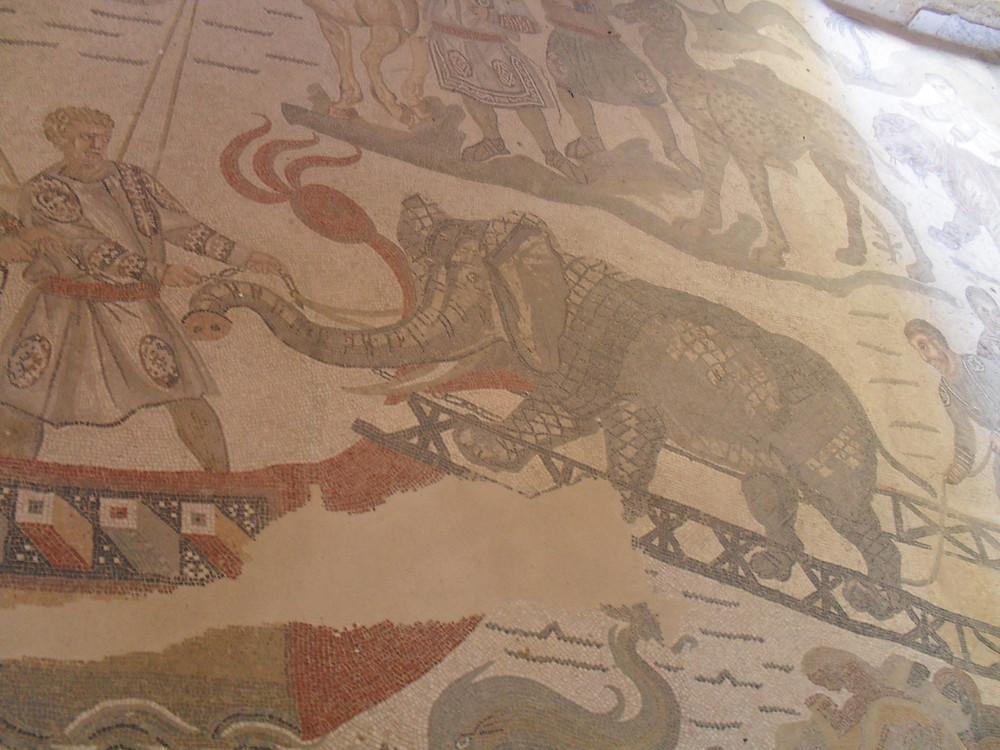 Piazza Armerinából való mozaik
