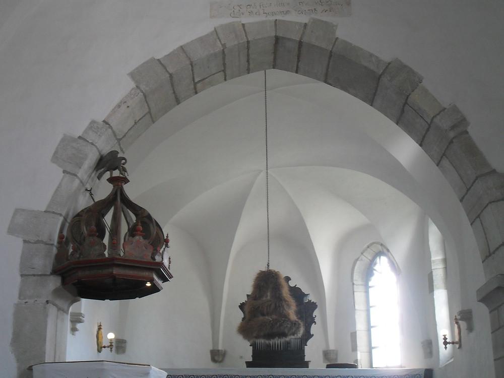 Somkerék – református templom, aratókoszorú