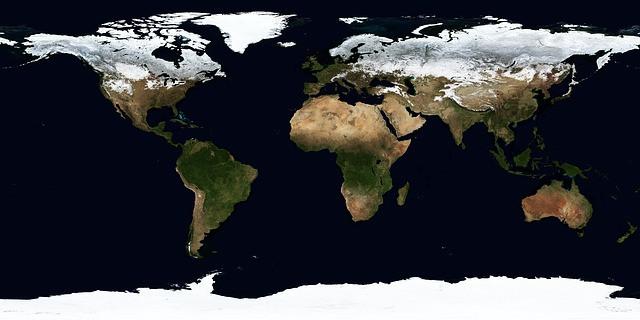 Téli Föld . térkép
