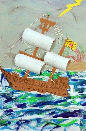 Saját alkotás - hajó