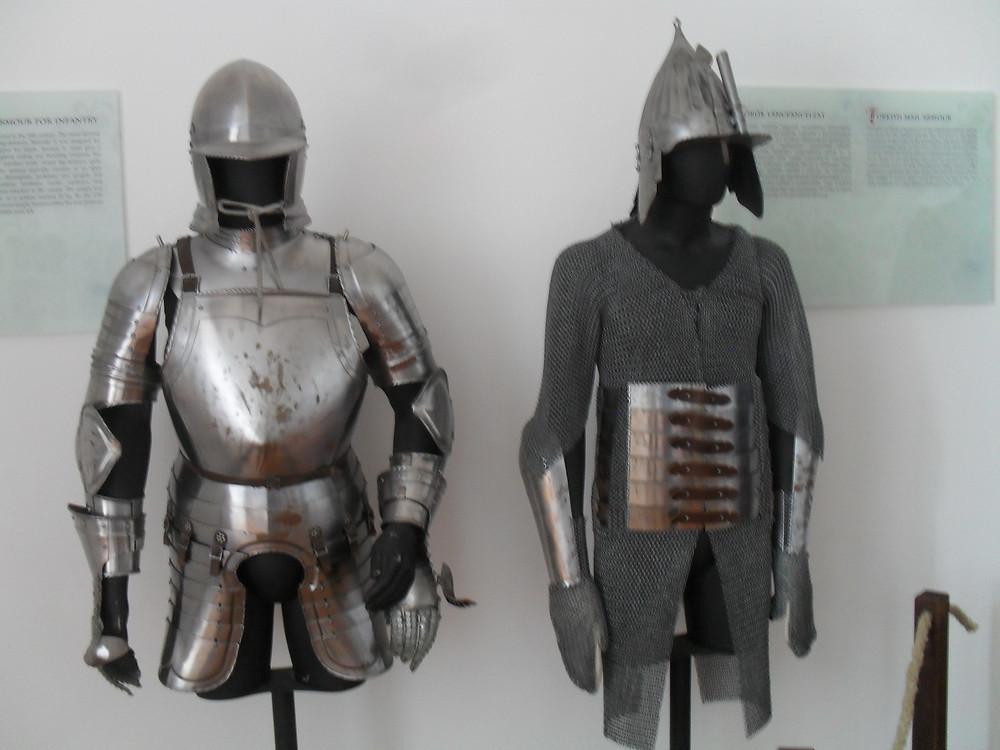 Siklósi múzeumban készült páncélzatok.