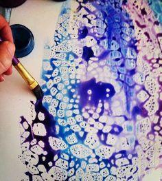 Mosogatószer és festék keveréke a festőközeg