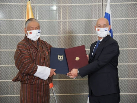A historic peace agreement between Israel and Bhutan