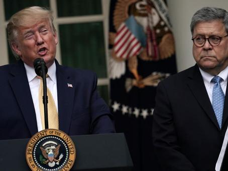Präsident Donald J. Trump kündigt den Ausstieg von William Barr vor Weihnachten an