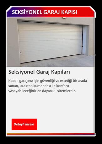 SEKSİYONEL GARAJ KAPISI