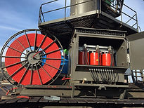 ekskavatör, iş makinaları kablo tamburu