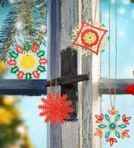 HY Architects wooden snowflake ornaments