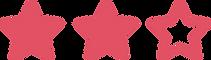 Icone com três estrelas