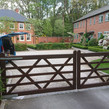 Electric gate replacement installation