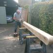 Replace oak gate post