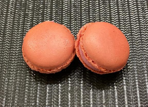 macaron ai lamponi