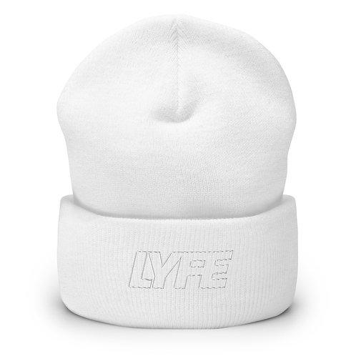 NEW WHITE on WHITE Cuffed Beanie
