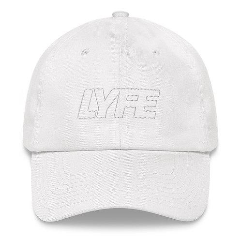 NEW WHITE on WHITE Dad Cap