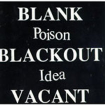 POISON IDEA - BLANK BLACKOUT VACANT CASSETTE