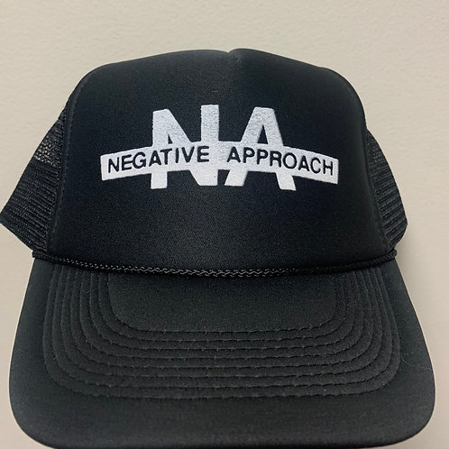 NEGATIVE APPROACH BLACK TRUCKER HAT
