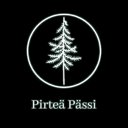Pirteän Pässin logo, taustalla lähikuva seinäsammalesta