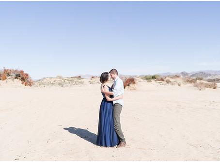 Séance Engagement dans le désert | Californie | M&J