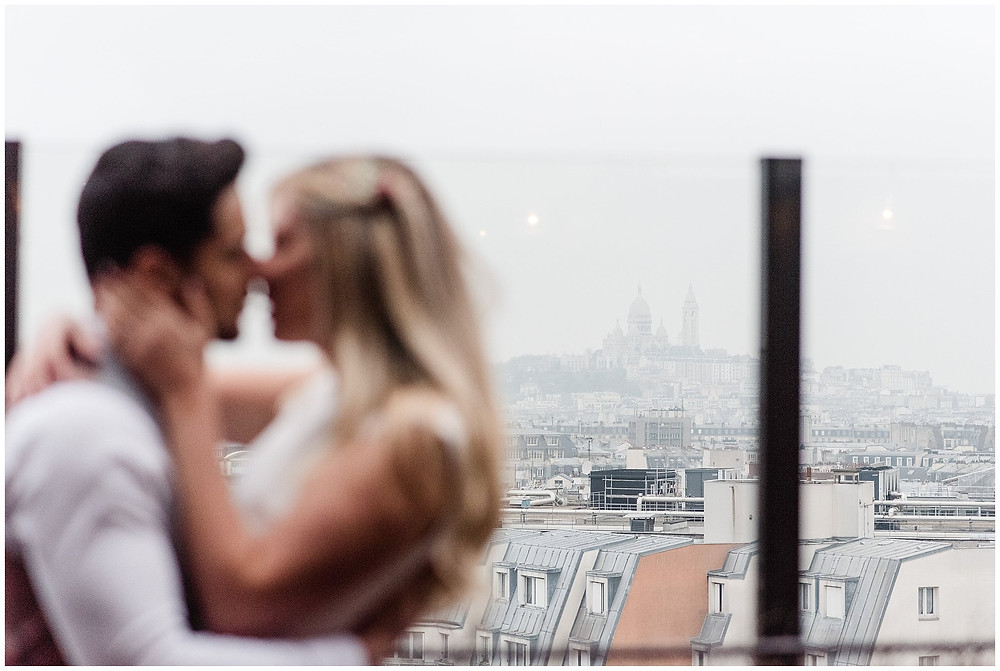 Photographe mariage rooftop paris