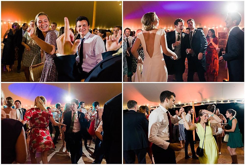Soirée dansante lors d'un mariage en Bourgogne