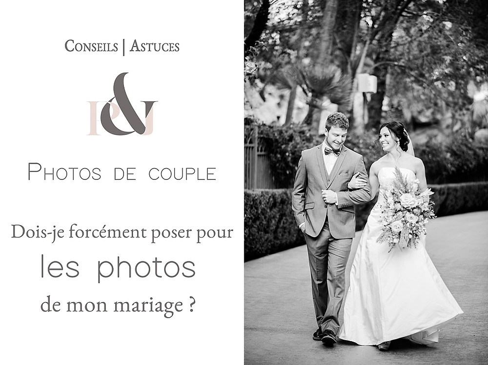 Poser pour ses photos de mariage
