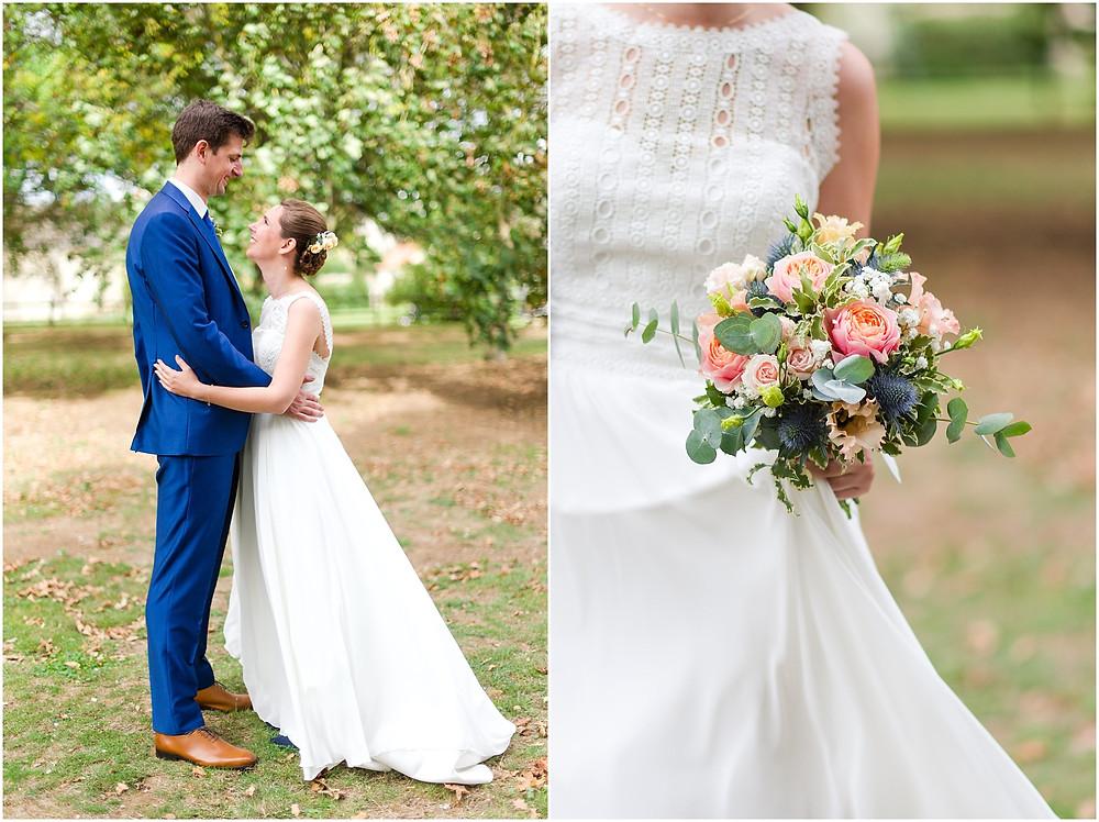 couple mariés la vallée aux pages