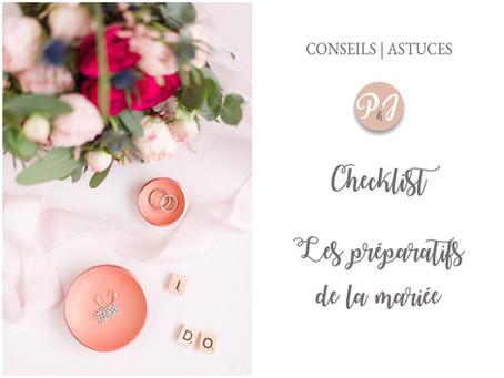 Les accessoires de la mariée : Checklist