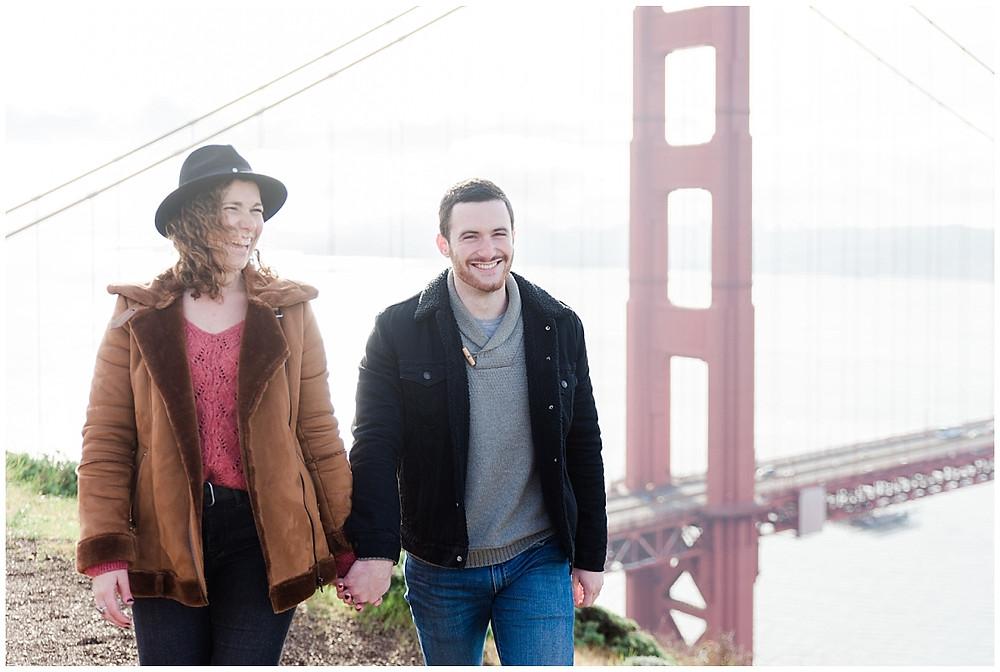 Séance photo lifestyle san Francisco Golden Gate Bridge