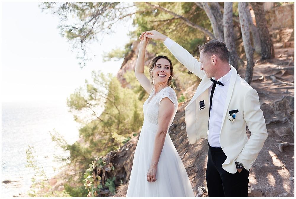 photo de couple - mariage à Saint-Mandrier-sur-Mer.