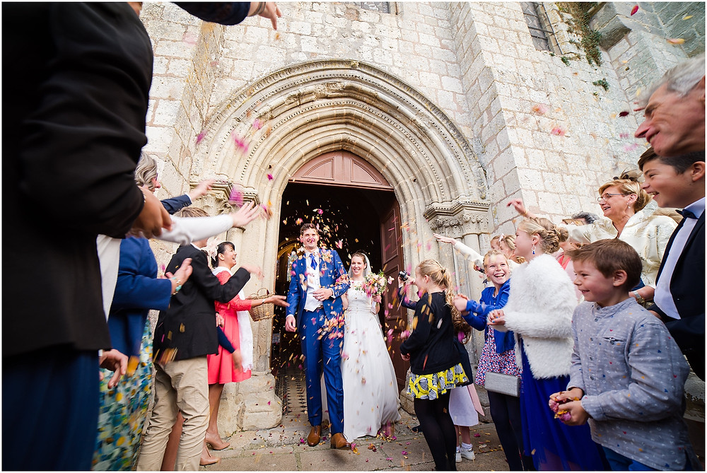 sortie église photographe mariage yvelines