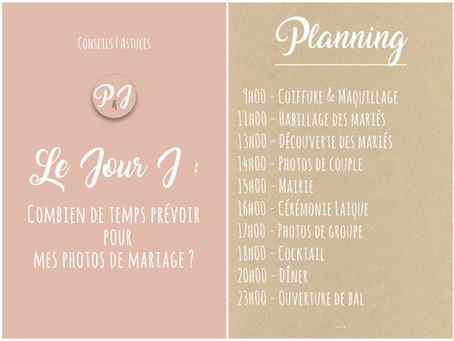 Planifier vos photos de mariage | Les durées idéales pour photographier votre mariage