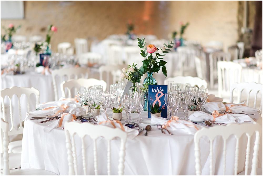 décoration table mariage vallée aux pages