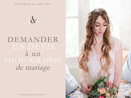 Demander un devis - photographe de mariage