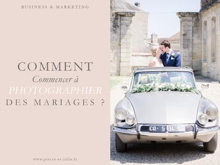Comment commencer à photographier des mariages ?