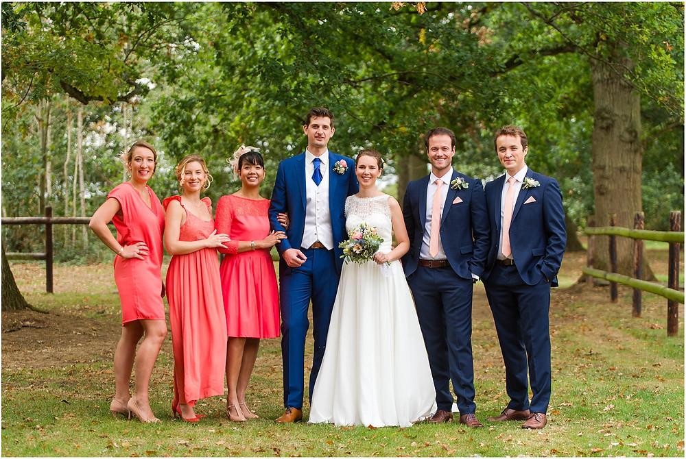 photo groupe mariage la vallée aux pages
