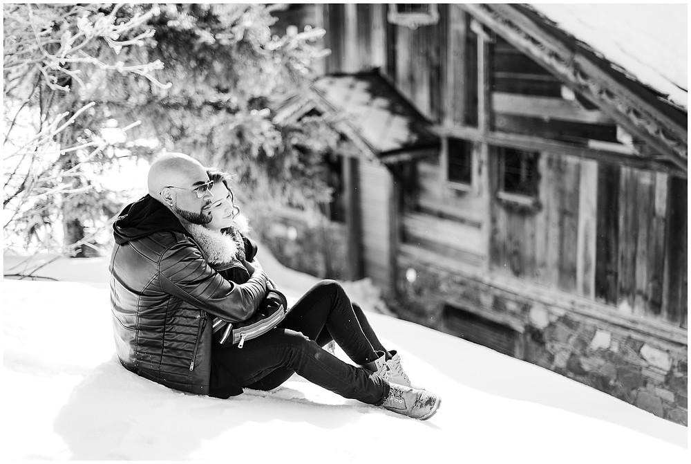 Séance photo de couple à l'Alpe d'Huez