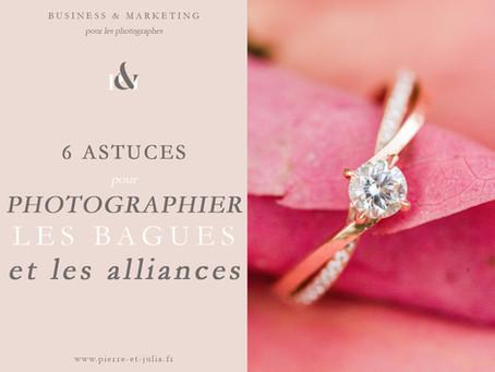 6 astuces pour photographier les bagues et alliances
