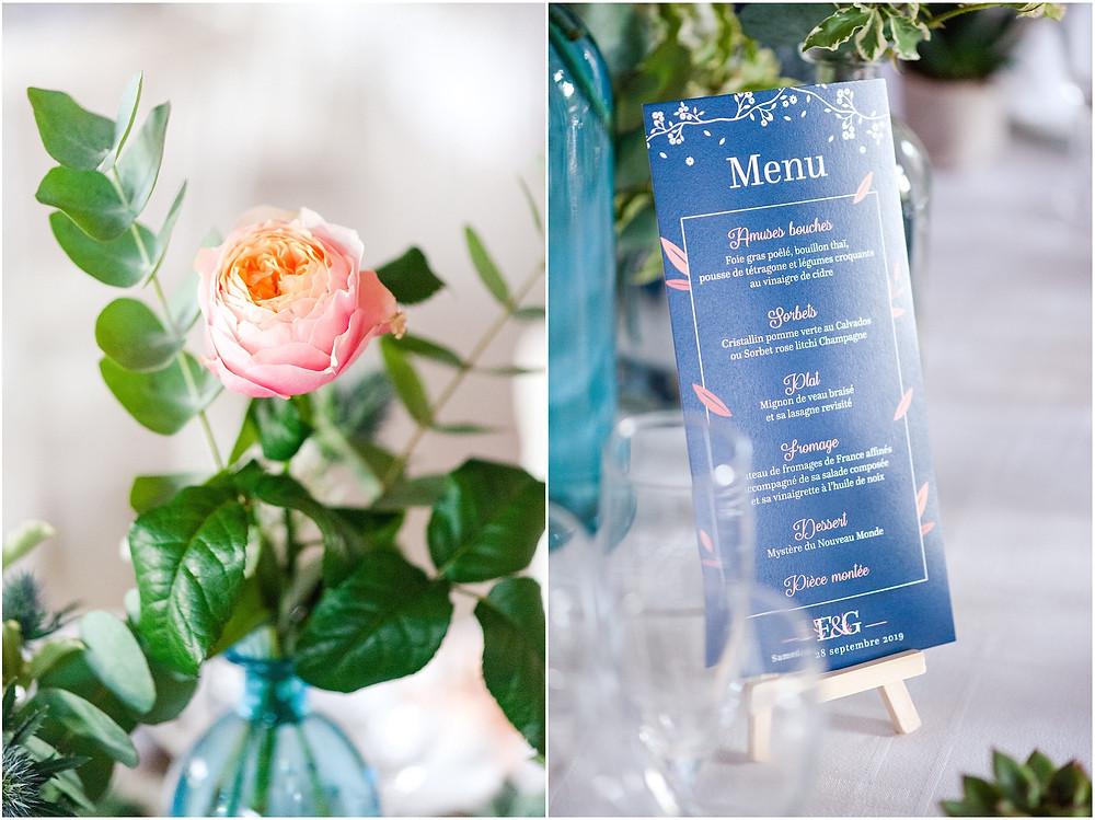 menu mariage la vallée aux pages