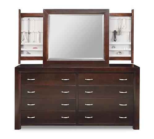 Contempo 8 Drawer Dresser /w Jewellery Mirror