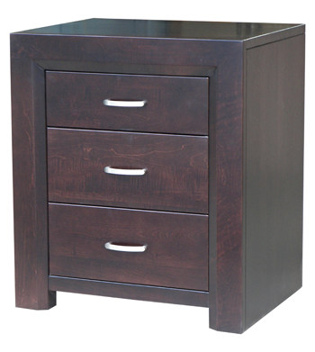 Contempo 3 Drawer Night Table